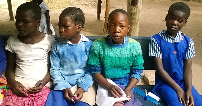 Children in row